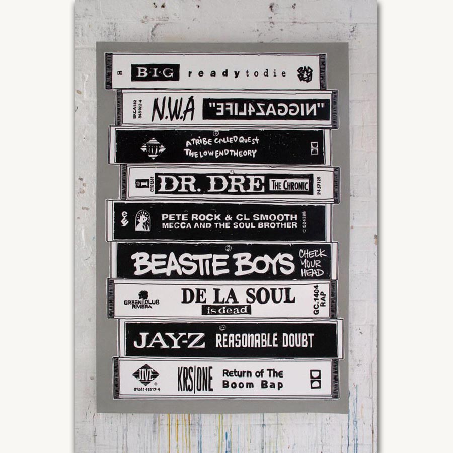 FX975 NWA Jay-Z Old School Rap Music Hip Hop Rapper Star Album Cover Poster  Art Silk Light Canvas Home Room Wall Printing Decor