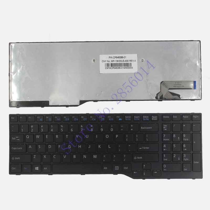 New US for Fujitsu Lifebook A544 AH544 AH564 US A544 AH544 AH564 Laptop Keyboard P/N CP648386-03 MP-13K33US-930 CNYACP648386 6 cell laptop battery for fujitsu lifebook a532 ah532 ah532 gfx fmvnbp213 fpcbp331 fpcbp347ap p567717 01