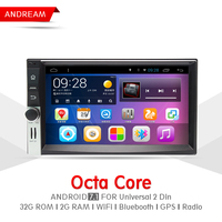 Octa Core 2G RAM 32G ROM Car DVD Player Stereo Android 7 1 Navigation BT For
