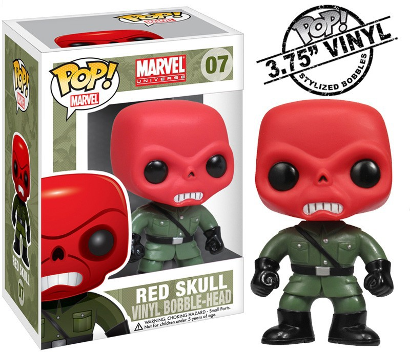Funko Pop Marvel Vinyl Figure Red Skull In Action Amp Toy