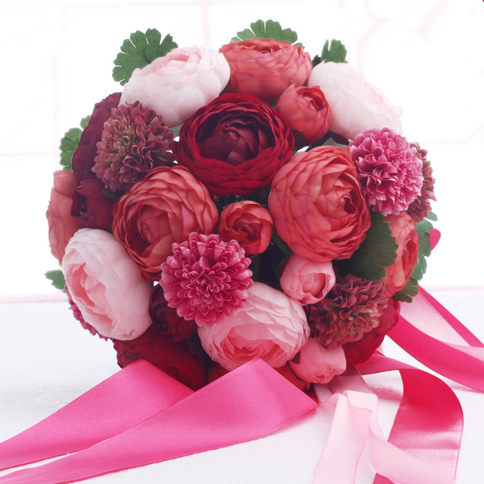 SPR 2 шт./лот 50 см Pomander розовый шар EMS Бесплатная доставка свадебные поцелуи цветы вечерние/украшение дома цветок - 2