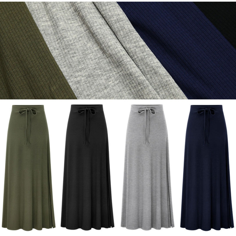 Plus Size Knitting Flare Skirts Women's Skirts