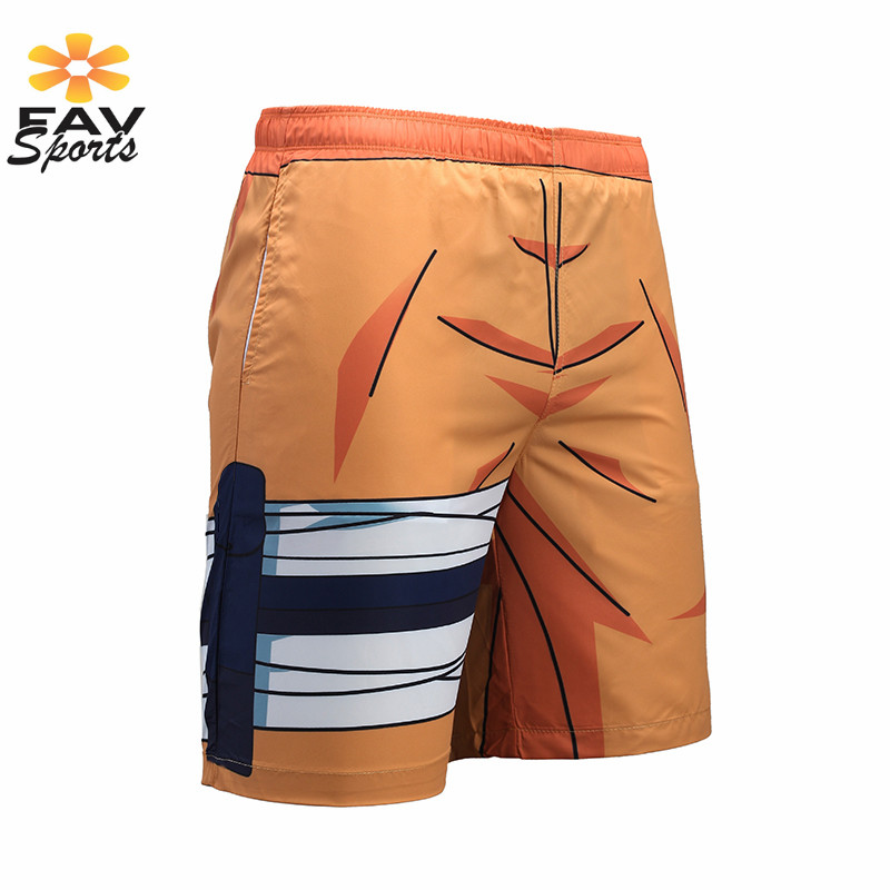 2018 New Mens Print   Board     Shorts   Elastic Quick Dry Surfing Pants Summer Swimwear Briefs Beachsuit Sportswear Beach   Shorts   Men