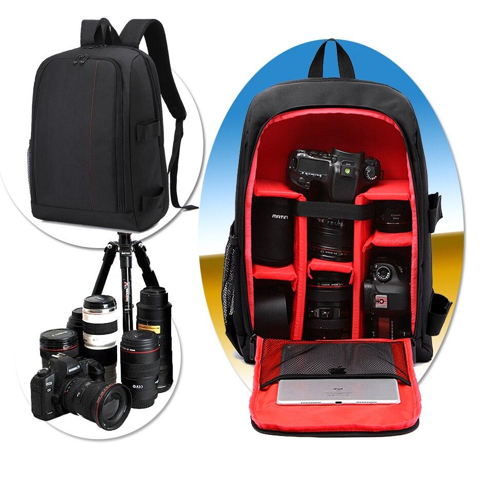 DSLR Caméra Étanche Sac À Dos Pour Canon EOS 6D2 77D 7D2 7D 6D 5D Mark IV III II 5DSR 80D 800D 760D 750D 5DS 1300D 1200D