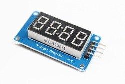 TM1637 светодиодный модуль дисплея для arduino, 4 бит, 0,36 дюйма, часы, красная анодная цифровая трубка, четыре серии, плата драйвера