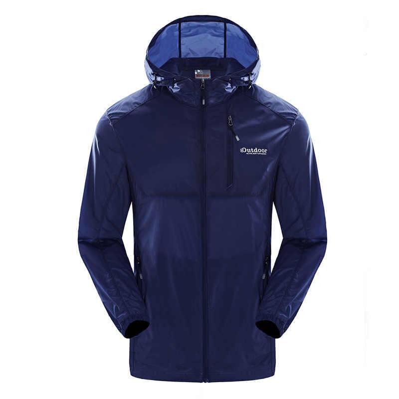 Masculino casaco de pele proteção uv esportes ao ar livre acampamento camisa roupas de proteção solar