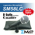 Free Shipping! 5pcs/lots High Quality Version SM 58 58LC SM58LC Wired Vocal Karaoke Handheld Dynamic Microphone Microfone Mic