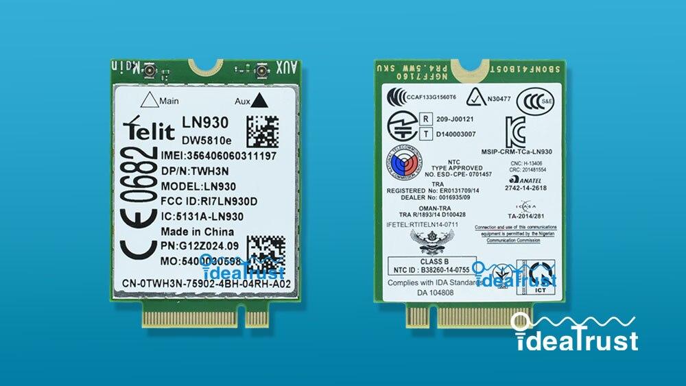 Telit LN930 DW5810e M.2 TWH3N NGFF  4G/LTE/DC-HSPA+ WWAN  wireless network Card for Venue 11 brand new huawei me936 4g ngff m 2 fdd lte wcdma hsdpa hsupa hspa wwan wireless network card pk me906