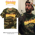 Thrasher T-shirt Men High Quality Cotton 1:1 Brand Clothing Fashion Camouflage Short Sleeve Hip Hop Thrasher Skateboards T-shirt