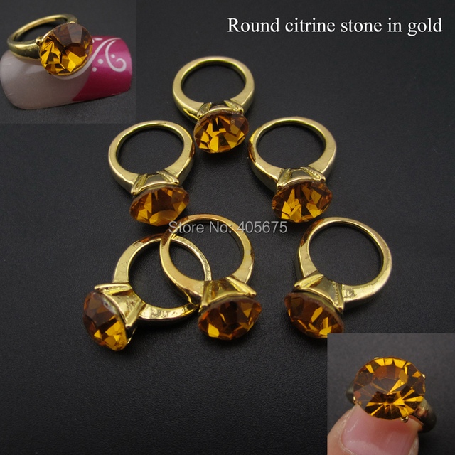 5pcs 3d diamond nail art rings glitter crystal nail decoration ...
