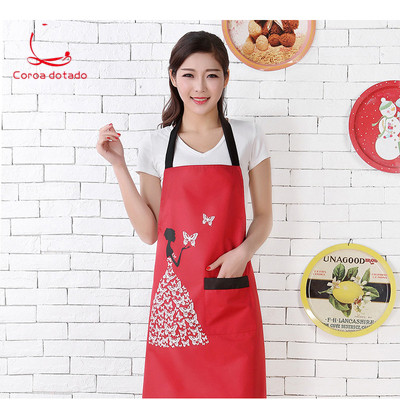 Kitchen Apron Korean Version Of Cute Fashion Lovers Manicure Work Clothes Waterproof Oilproof Smock Adult Women Custom LOGO