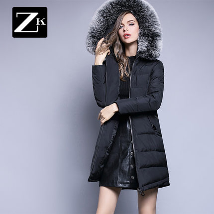 2016 new hot winter Thicken Warm woman Down jacket Coat Parkas Outerwear Hooded fox Fur collar long plus size  luxurious black 2016 new hot winter thicken warm woman down jacket coats parkas outerwear hooded fox fur collar luxurious long plus size 3xxxl