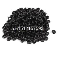 300Pcs 5mm X 10mm Black Rubber Cable Wiring Grommets Gasket Ring
