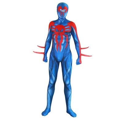 Adult manSpider Man 2099 Miguel O'Hara Spideran Cosplay Costumes Zentai Spider Man Superhero Bodysuit Suit Jumpsuits