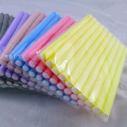 10 Pcs Soft Foam Bendy Twist Curler Sticks Diy Hair Design