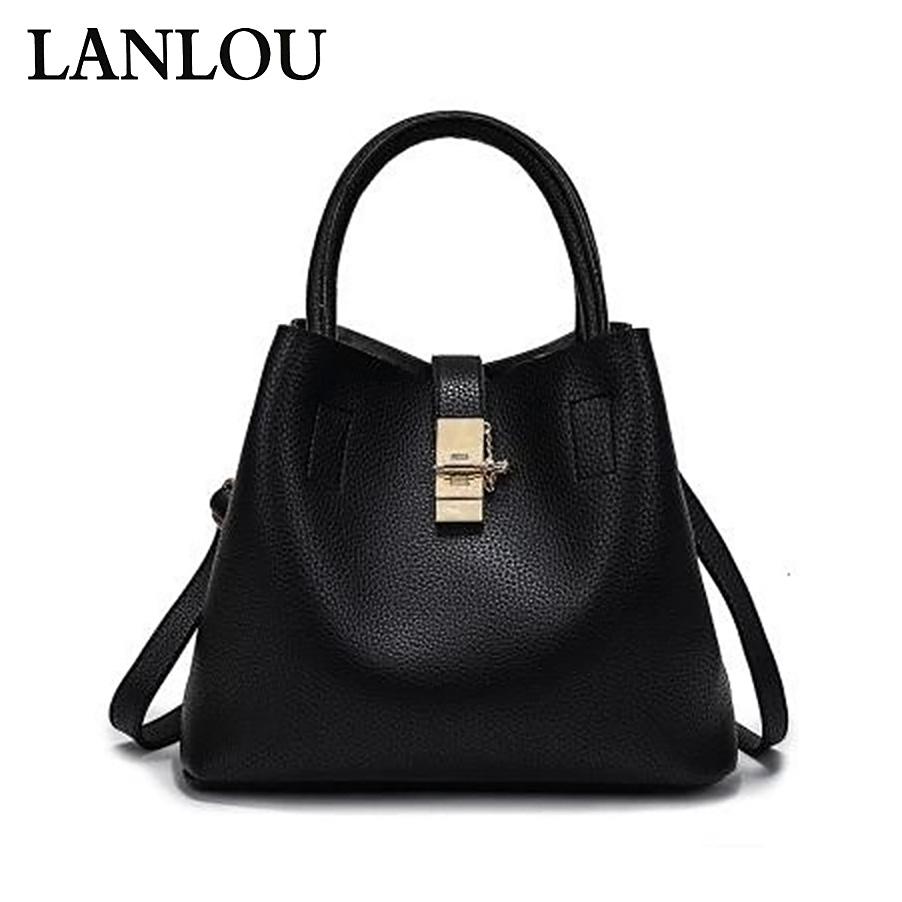 LANLOU Shoulder bag luxury handbags women bag designer Ladies Crossbody New Retro Tassel Handbag bags for women 2018 Bucket bag
