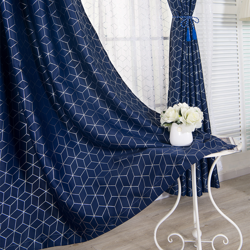 [byetee] Window Door Curtain Cloth Bedroom Living Room Balcony Kitchen Blue Grey Curtains Blackout Curtains For Drapes