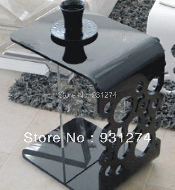 Schwarz Acryl Beistelltischbeistelltischbett Tischplexiglas