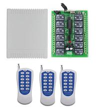 433 МГц/315 МГц DC 12 В 12 CH 12CH радио управление Лер RF беспроводной Дистанционное управление переключатель системы, передатчик приемное устройство для открытия двери гаража