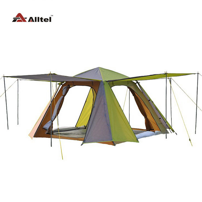 Alltel genuine anti storm 3-4 people double layer  four seasons camping automatic outdoor tent outdoor double layer 10 14 persons camping holiday arbor tent sun canopy canopy tent