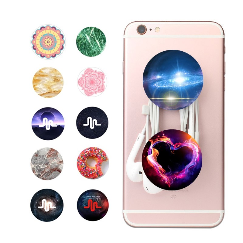 Round New Beautiful Finger Holder POP with Anti-fall Phone Smartphone Desk stand Grip Mo ...