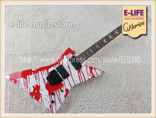 Excellent Feedback Best Price ESP / LTD Explorer Blood Tears Guitar China OEM Factory In Stock For Sale(China)