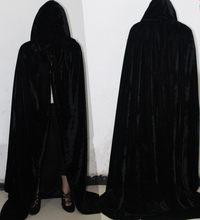 02f86177bdab5 Dorosłych Witch Długa Fioletowy Zielony Czerwony Czarny Cloaks Kaptur  Peleryna straszny vampire halloween kostiumy dla kobiet