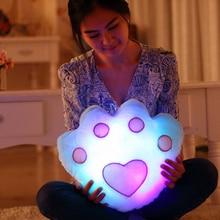 Luminous Cushion Baterry Powered Decorative Flashing  Music Cushion  Sound Bear's Paw Cushion  Lovely Gifts Birthday Presents
