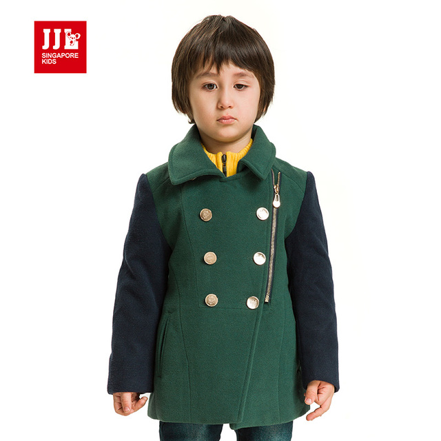 boys winter coat vintage double breasted boys parka kids wool coat warm brand boys winter clothes