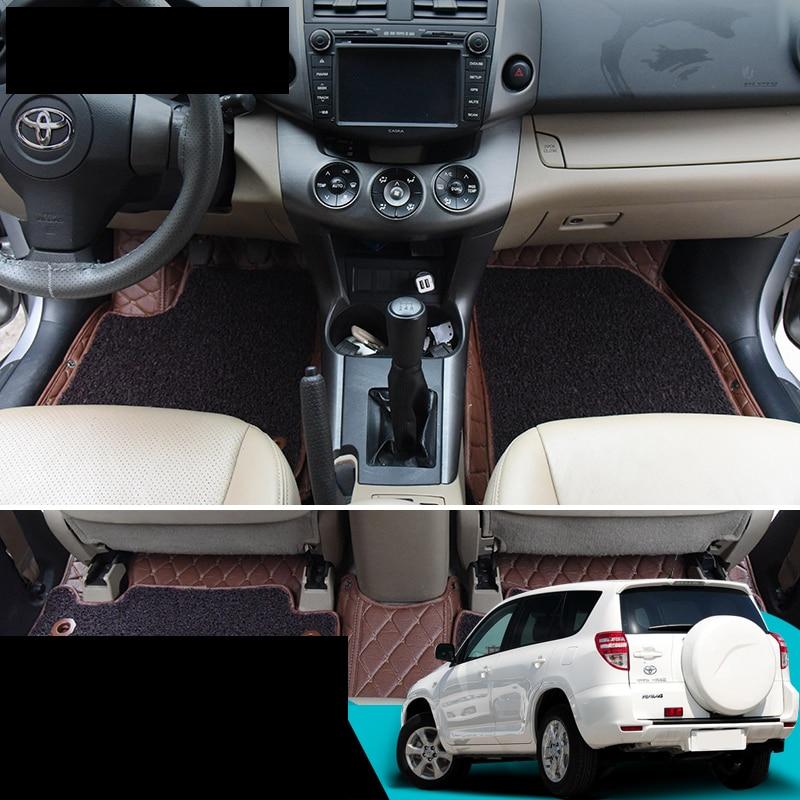 lsrtw2017 fiber leather car floor mat for toyota rav4 2005 2006 2007 2008 2009 2010 2011 2012 xa30 factory style car roof rack rails bars black for toyota rav4 2006 2007 2008 2009 2010 2011 2012