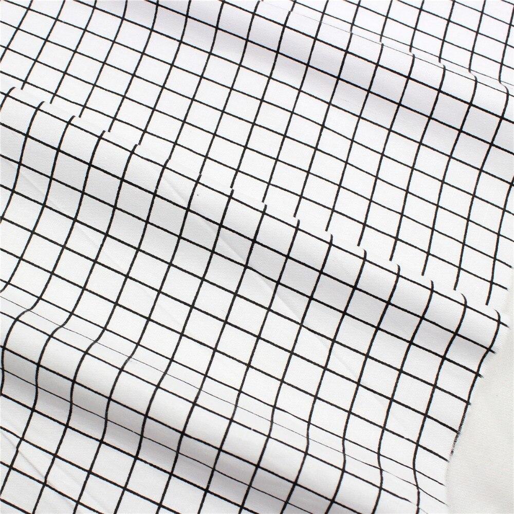 1642667, 50cm*150cm Lattice Series Cotton Fabric,diy Handmade Patchwork Cotton Cloth Home Textile Free Shipping Pure Whiteness