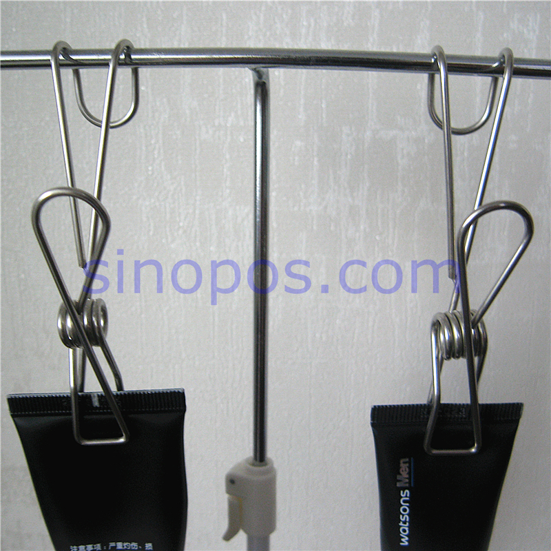 Stainless Steel One piece Wire Spring Clip With Hook, metal ...