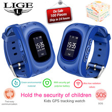 LIGE New Kids Watch SOS Call Location Finder Locator Tracker Anti Lost Monitor Children Gift Smart Watch Support SIM Card+Box(China)