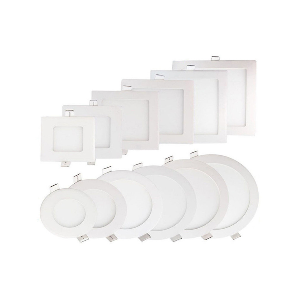 6w 12w 18w 24w Led Recessed Ceiling Flat Panel Down Light: 3W 4W 6W 9W 12W 15W 18W 24W LED Recessed Ceiling Panel