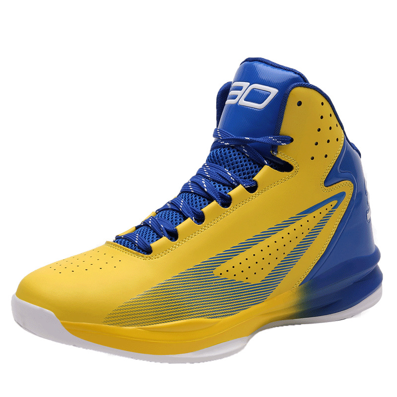 No.30 Stephen Curry Basketball Shoes Cushioning Rubber Sole Lace Up Shockproof Athletic Outdoor Sports Shoes colour block lace up splicing athletic shoes