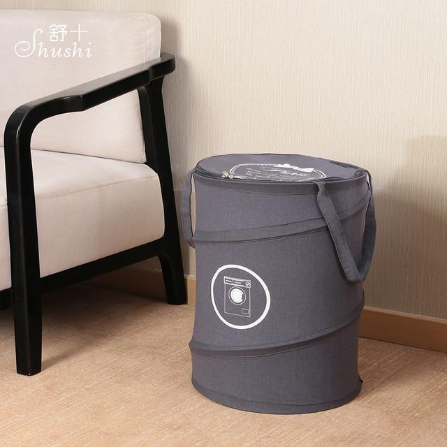 SHUSHI hot moda Algodão sacos cesto de roupa suja cesto de roupa suja oxford dobrável Dobrável saco de lavagem cesto de roupa suja com zíper