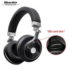 Słuchawki Bluetooth Bluedio T3 +/T3 Plus głęboki bas bezprzewodowy zestaw słuchawkowy z gniazdo kart sd i mikrofon do muzyki telefonu
