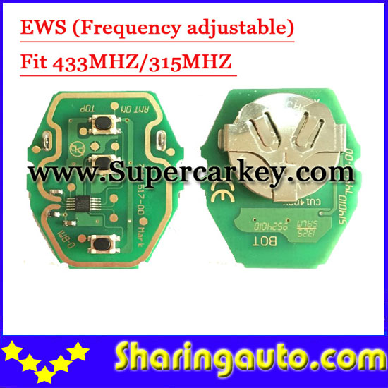 Free Shipping EWS Remote Key Circuit Board 315MHz Or 433MHz Adjustable 2-in-1 For BMW 5pcs/lot