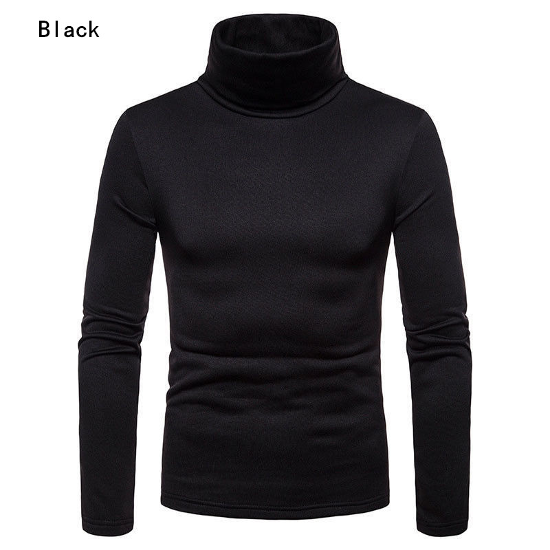 UK Fashion Mens Roll Turtle Neck Pullover Knitted Jumper Tops Sweater