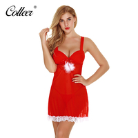 COLLEER Newest Sexy Lingerie Red Lace Sexy Bra Sets Sexy Costumes Women Lingerie Christmas Underwear Hot