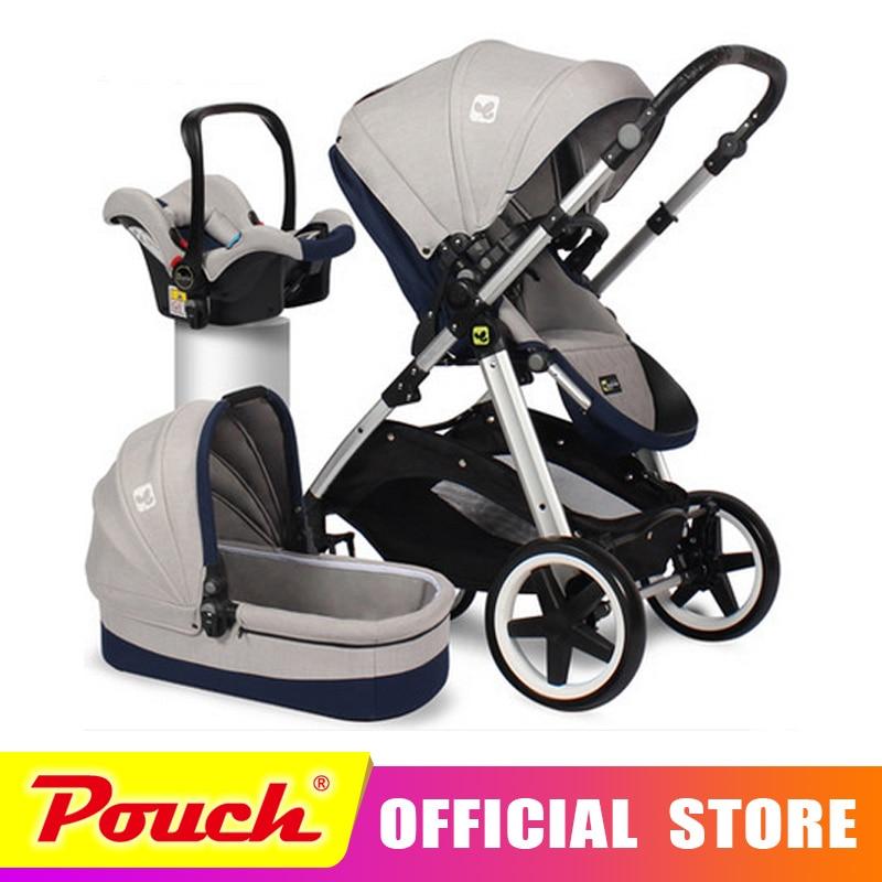 CoolBabay cochecito de bebé CoolBaby puede estar tumbado portátil cochecito de bebé carrito entrega gratuita 3 en 1 Envío Gratis