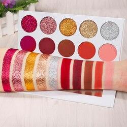 DE'LANCI Matte Glitter Lidschatten Pallete Gedrückt Glitter Lidschatten Pigment Make-Up Palette maquiagem profissional completa