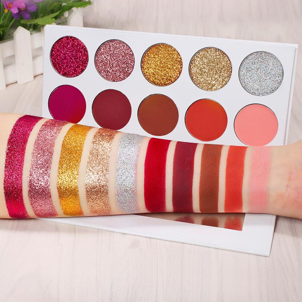 Delanlanci fosco glitter sombra palete pressionado brilho sombra de olho pigmento maquiagem paleta maquiagem profissional completa