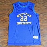 MM MASMIG Bleu Puces Anfernee Hardaway Butch McRae 22 Western University Basketball Jersey S M L XL XXL XXXL