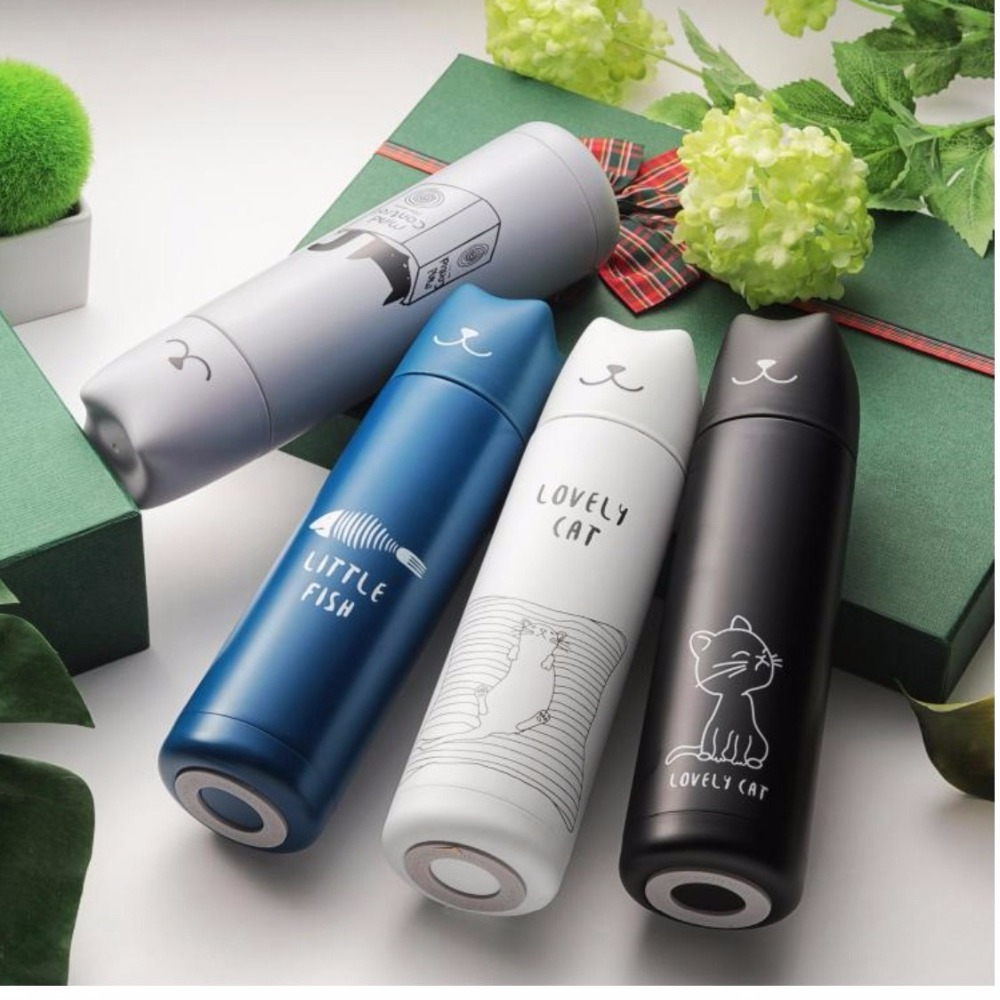 500ml Thermos Flask Flask Cute Cat Vacuum Warmer Student Lover Vacuum Bottle Stainless Steel Coffee Bottle Drink Travel Gift
