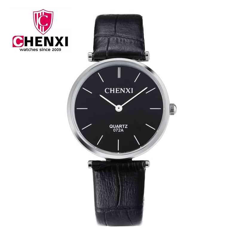 CHENXI Brand Watch Men Life Waterproof Fashion Leather Bracelet Wristwatch Business Male Quartz Hand Watches Casual Gift NATATE