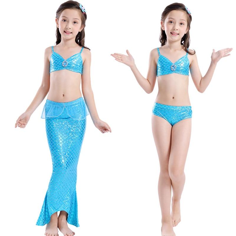 Mother & Kids Yy819 5 New Fashion European And American Swimwear Children Mermaid Swimming Clothes Childrens Swimsuit Girl Bikini