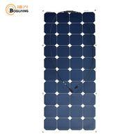 BOGUANG 120 Вт гибкие солнечные панели высокая эффективность моно ячейки модуль для 12 В батареи RV лодка двор свет заряда открытый зарядное устро