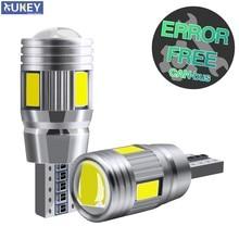 Xukey carro t10 led cunha lâmpadas 501 168 w5w cunha lâmpada canbus cabine lateral reversa estacionamento marcador luzes 6000k xenon branco 12v