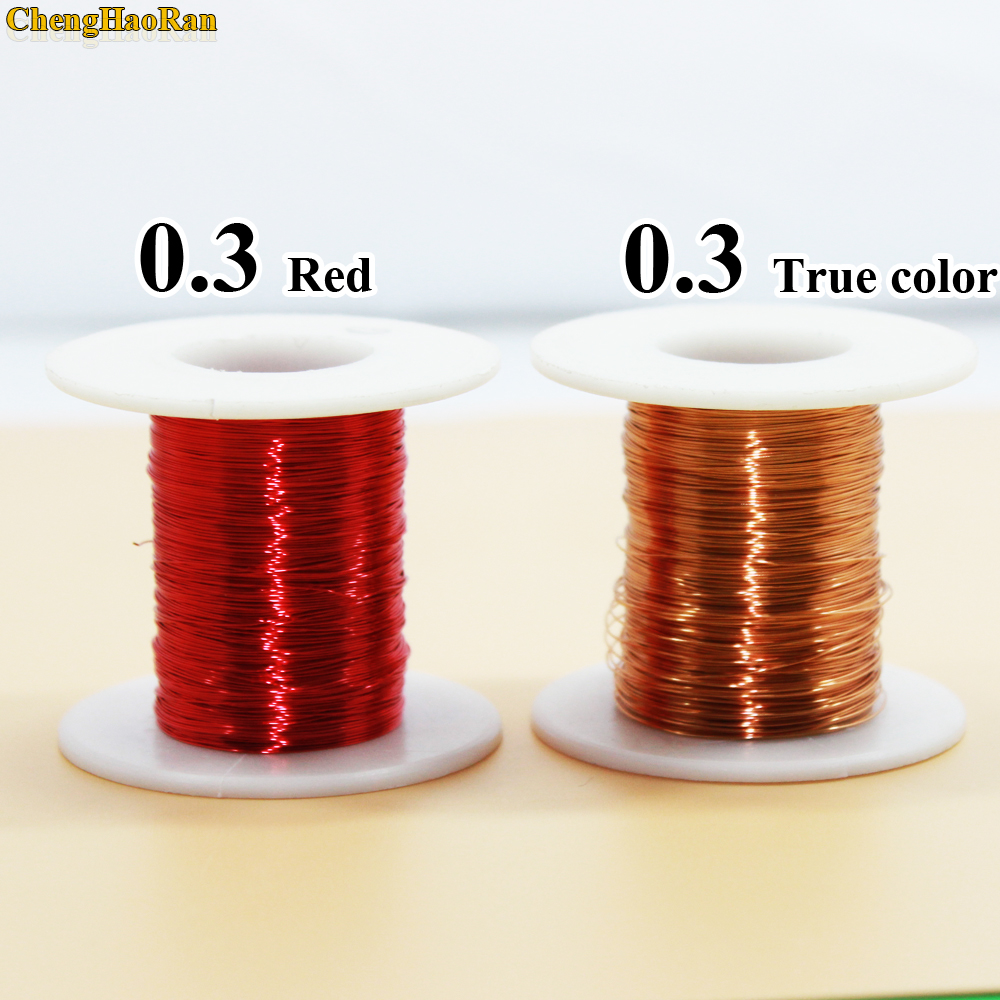 ChengHaoRan 0.3mm x 50m 100m QA 1 155 Polyurethane enameled wire Copper Wire 50meter/pc 100 meter-in Computer Cables & Connectors from Computer & Office